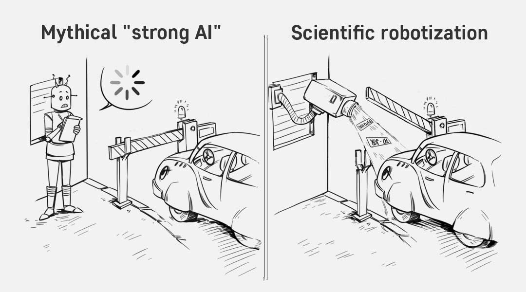 Strong AI vs scientific IEM robotization