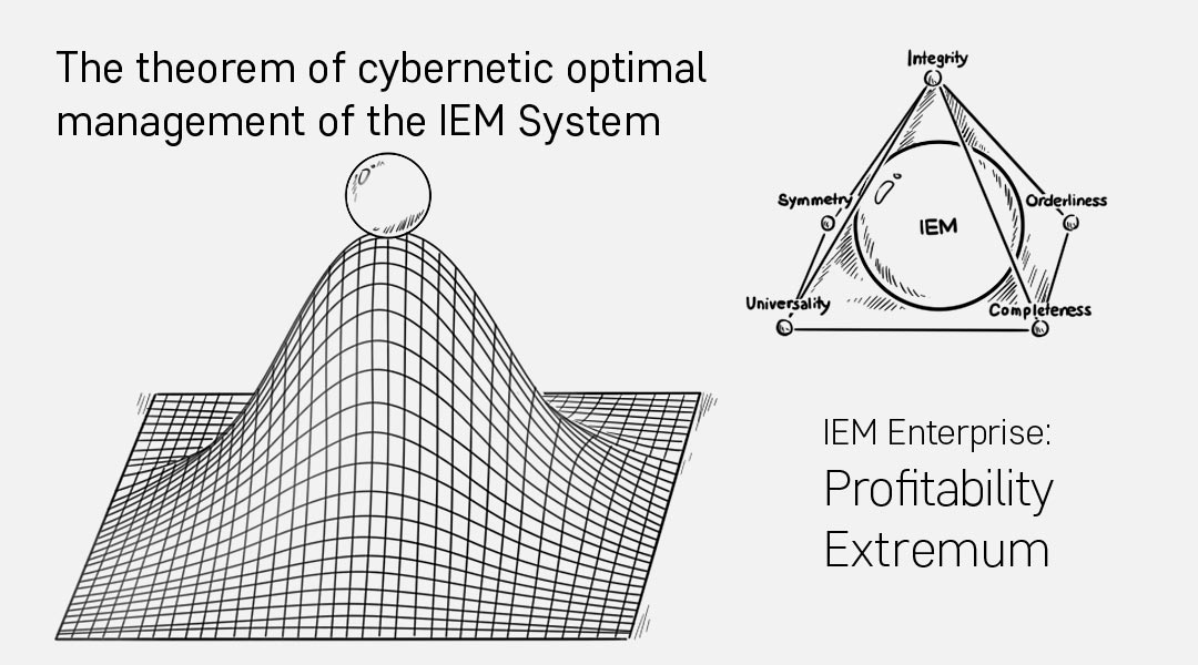 The theorem of cybernetic optimal management of the IEM System